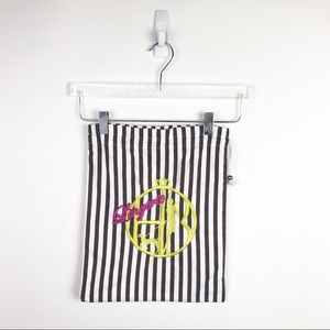 Henri Bendel Lingerie Travel Bag Striped